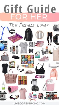 This is the ultimate gift guide for her, the fitness lover. Over 50 gift ideas for the fit girl who loves everything health and fitness. Find the best gift ideas for women who love to workout. Perfect list of ideas for a Christmas gift, Mother's Day Birthday Woman, Birthday Gifts For Women, Diy Birthday, Birthday Gift For Sister, Christmas Gift Ideas For Teenage Girl, Teenage Girl Birthday, Boyfriend Birthday, Christmas Birthday, Mother Christmas Gifts
