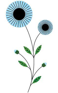 Blue flowers. Lan Truong
