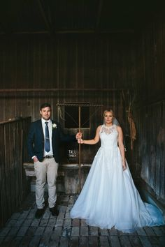 WLC Real Bride Bethany wearing Tekla by Pronovias exclusive to White Lily…
