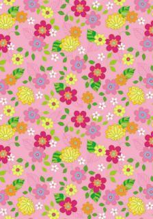 p/ imprimir - scrapbook paper pink floral