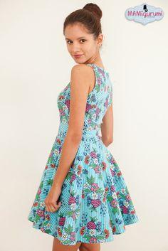 Schnittmuster Burda young 50er Kleid