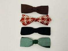 Clip On Bow Ties, Silk Bow Ties, Vintage Man, Vintage Clip, Hipster Stuff, Green Stripes, Black And Grey, Bows, Usa