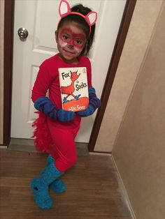 19df74d7dc9 Dr. Seuss costumes Fox in socks Girl Book Characters