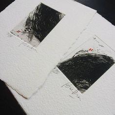 Beatriz Mahan Miniprints on handmade paper #etching #printmaking #paperart…