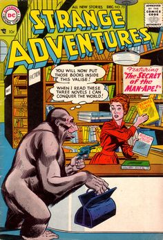Strange Adventures 75, December 1956, cover by Gil Kane and Bernard Sachs