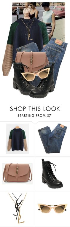 """Sidewalk Queens"" by destined-to-shine ❤ liked on Polyvore featuring Levi's, Madden Girl, Yves Saint Laurent and Christian Roth"