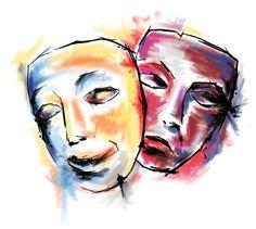 theatre masks, drama masks