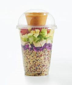 Spicy Quinoa Cobb Shaker Salad idea - recipe from inharvest.com --  a terrific way for a food truck to easily serve salads!