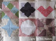 Arte en mis manos: Almazuelas... suma y sigue Sumo, Quilts, Blanket, Cabin, Nativity Scenes, Hands, Art, Quilt Sets, Cabins