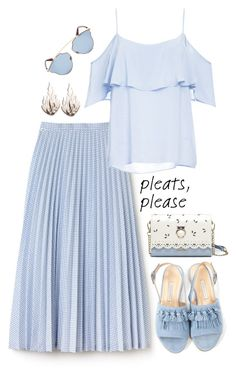 """""""Give Me Pleats, Please!"""" by sabine-promote ❤ liked on Polyvore featuring Lacoste, BB Dakota, Bionda Castana, Ring of Fire and Christian Dior"""