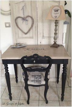 table et chaise noire