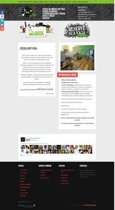 Site para escola de música Art Viva