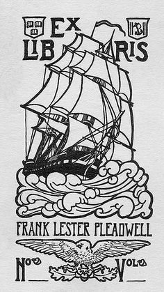 Bookplate of Frank Lester Pleadwell, by Pratt Libraries on Flickr