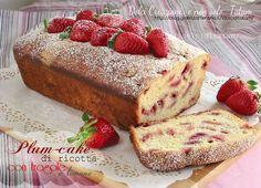 plumcake ricotta con fragola limone