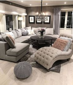 [New] The 10 Best Home Decor Today (with Pictures) - Living Room inspo Sectional sofas coffee tables and accent chairs - - - - - - - - - - - Living Room Decor Cozy, Home Living Room, Apartment Living, Living Room Designs, Bedroom Decor, Living Room Ideas, Bedroom Furniture, Living Room Goals, Cozy Apartment