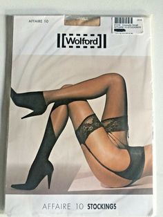038354c1db9 Wolford Affair 10 Stockings in COSMETIC BNWT - SIZE SMALL  fashion   clothing  shoes