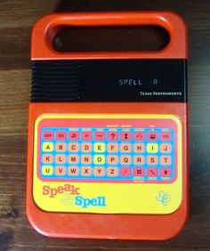 VINTAGE TEXAS INSTRUMENTS SPEAK AND SPELL ELECTRONIC TOY GAME 1980s