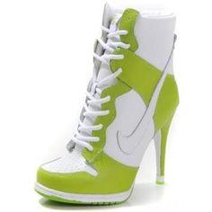 http://www.asneakers4u.com/ Nike Dunk High Heels High Green Yellow White