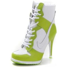 http://www.asneakers4u.com/ Nike Dunk High Heels High Green Yellow White