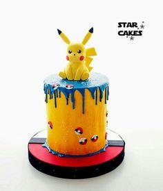 pikachu drip cake at DuckDuckGo Neon Birthday Cakes, Pokemon Birthday Cake, Pokemon Party, 6th Birthday Parties, 7th Birthday, Pokemon Cakes, Bolo Pikachu, Pikachu Cake, Drip Cakes