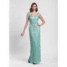 Sue Wong Aqua Long Column Dress - N4110