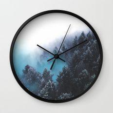 Have Faith In The Woods Wall Clock By Neptune Essentials On Society6 Home Decor Wall Decor Wall Clocks Hanging C Minimalist Clocks Wall Clock Diy Clock Wall