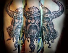 Vikings are some of the coolest and most interesting figures in history, still having a cultural impact today. Norse mythology inspired the creation of the Tattoos Mandala, Tattoos Geometric, Celtic Tattoos, Viking Tattoos, Thor Tattoo, Norse Tattoo, Arm Tattoo, Tattoo Flash, God Tattoos