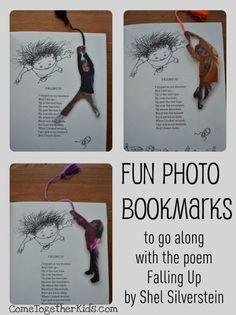 Come Together Kids: Fun Photo Bookmarks gave me an idea... These fun poses cut out would look great in a family photo book.