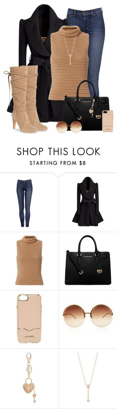 """""""Coat Check"""" by ashleydawn2 ❤ liked on Polyvore featuring Exclusive for Intermix, MICHAEL Michael Kors, Rebecca Minkoff, Linda Farrow, Charlotte Russe, EF Collection and Vince Camuto"""