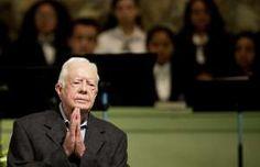 Image: Jimmy Carter - Former President Jimmy Carter teaches Sunday School class at Maranatha Baptist Church in his hometow...