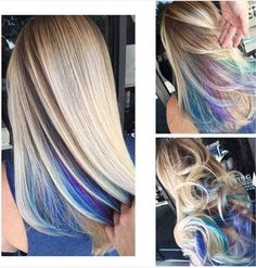 Rainbow Hair Roots give a pop of color to your hair.