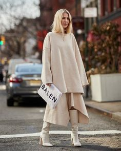 Street style на неделе моды в Нью-Йорке осень-зима 2018-2019