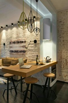 Kitchen to dining Feux wall