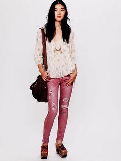 Free People Destroyed Skinny Jean, $99.95