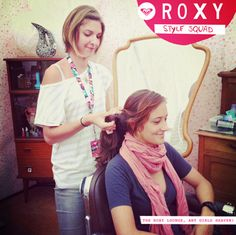 Justine Mauvin in the Roxy Lounge  #surf