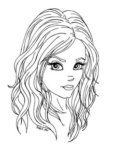 Kız boyama sayfası, girls coloring pages, chicas para colorear, девушки раскраски. Fairy Coloring Pages, Coloring Pages For Girls, Coloring Books, Outline Drawings, Art Drawings, Girl Drawing Easy, Digi Stamps, Copics, Drawing People