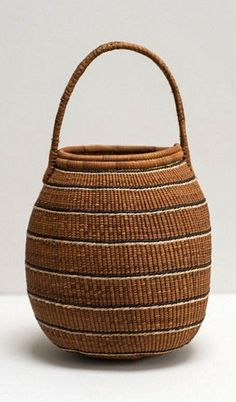 frica | Gathering basket from the Kwe people of Namibia | Natural fiber and dyes