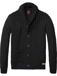 Chunky Knit Cardigan   Pullover   Men's Clothing at Scotch & Soda