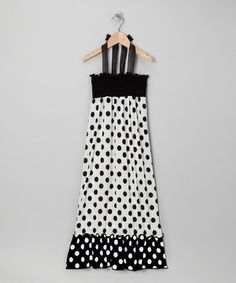 Look what I found on #zulily! Rated G Black & White Polka Dot Maxi Dress by Rated G #zulilyfinds