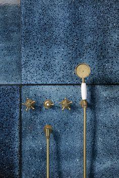 Blue oversize tiles from www.madeamano.com