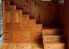staircase with drawers