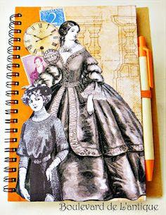 Boulevard de L'antique: Vintage Ladies Notebook http://www.boulevardelantique.blogspot.com/2012/08/vintage-ladies-notebook.html#