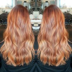 Are you going to balayage hair for the first time and know nothing about this technique? We've gathered everything you need to know about balayage, check! Red Balayage Hair, Red Hair With Blonde Highlights, Red Blonde Hair, Brown Ombre Hair, Copper Blonde Hair, Hair Color Auburn, Auburn Hair, Ombre Hair Color, Winter Blond