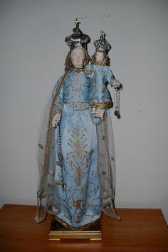 Madonna del Rosario stile 700 napoletano