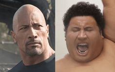 Dwayne Johnson Has a Dance-Off with His Younger Self on the Set of 'Central Intelligence'