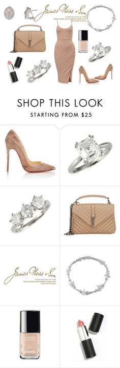 """Nude & Diamonds"" by jamesness on Polyvore featuring Christian Louboutin, Yves Saint Laurent, Wedgwood, Chanel and Sigma Beauty"