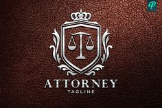 Attorney, Lawyer Logo Template by PenPal on @creativemarket