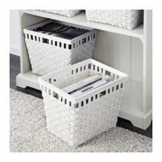 "IKEA - KNARRA, Basket, black-brown, 15x11 ½x11 ¾ "", , Collecting newspapers, toys, hats and gloves in baskets makes it easier to find what you need and keeps the room looking neat and uncluttered.Each basket is woven by hand and is therefore unique.Can also be used in bathrooms and other damp indoor areas."