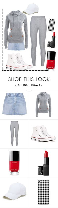 """""""Quad core"""" by kuroshironeko ❤ liked on Polyvore featuring GRLFRND, NIKE, Converse, Chanel, NARS Cosmetics and Sole Society"""