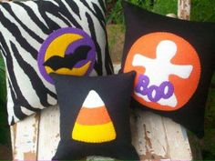 simple Halloween pillows